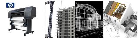 Услуги копи-центра по работе с широкоформатными чертежами: копирование, сканирование, распечатка из  AutoCad, фальцовка по ГОСТу в форматы А3 и А4, переплет.