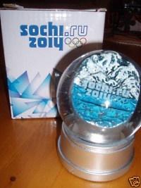 Sochi 2014 Olympic Snowglobe