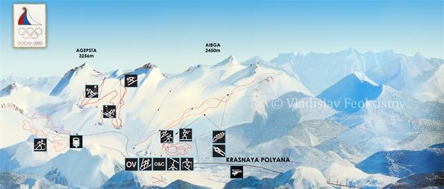 Карта-схема горной зоны
