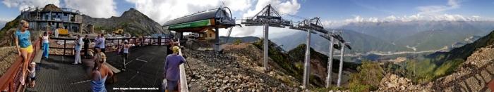 Виртуальная панорама верхней станции Горной Карусели