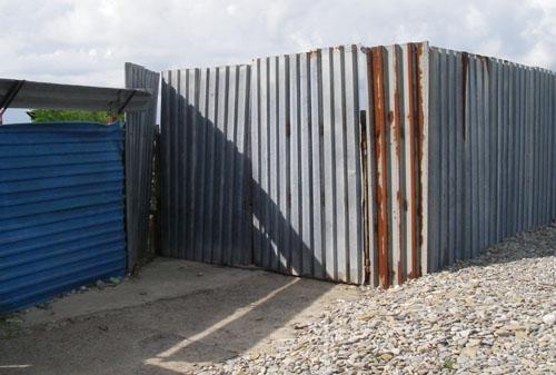 Забор Фазотрона. Ворота