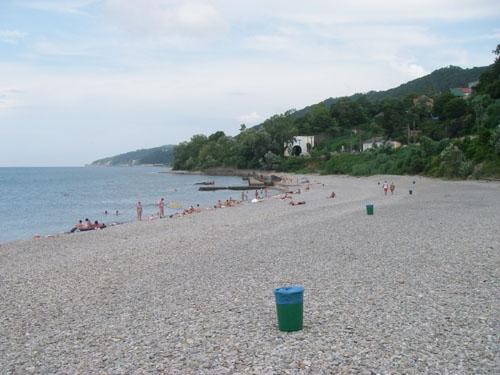 А вот и сам пляж