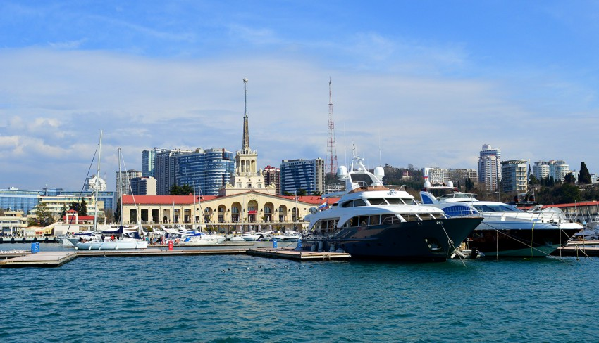 Sochi sea port terminal photo, March 2017