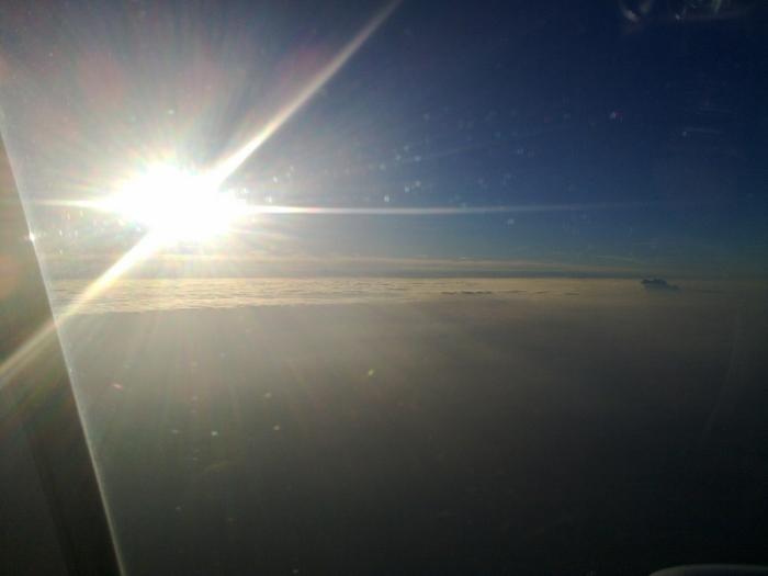 Закат в воздухе