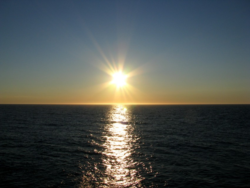Barents sea sunset