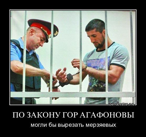 Агафонову попало поделом а мирзоев сидит не за что
