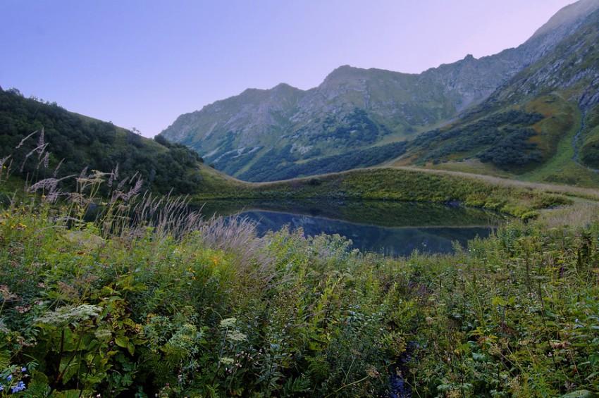 Озера утро день вечер и ночь