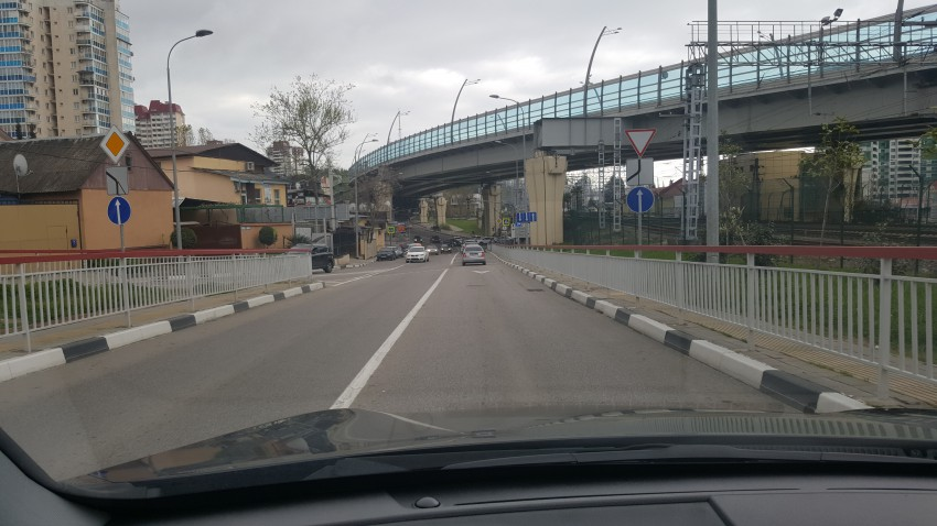 На подъезде к перекрёстку
