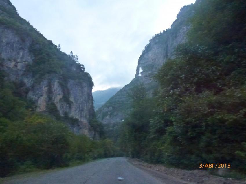 по дороге на Рицу
