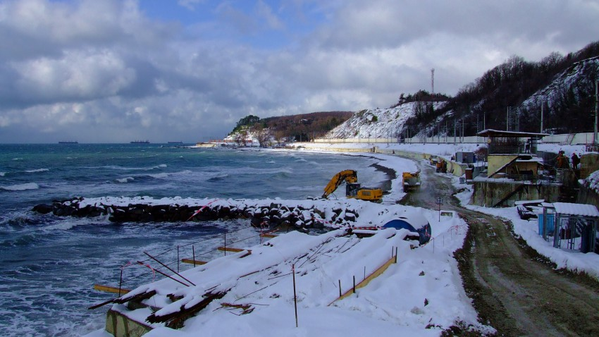 Зимнее море