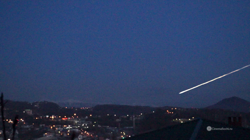 Метеор или метеорит над Сочи