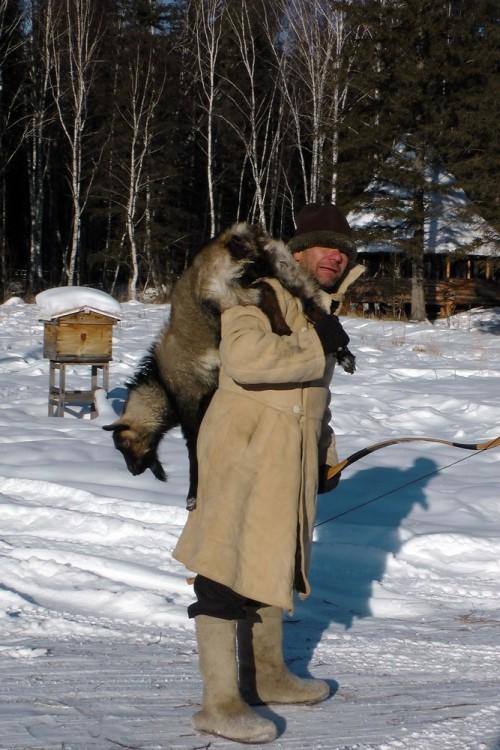 с охоты))