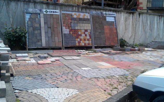 брусчатка,бордюр,поребрик,тротуарная плитка,листопад