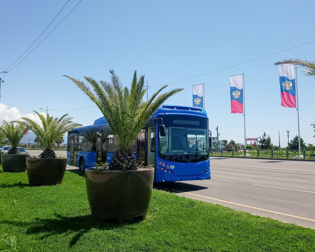 Новые отечественные автобусы: испытания летней жарой и горными серпантинами  в Сочи