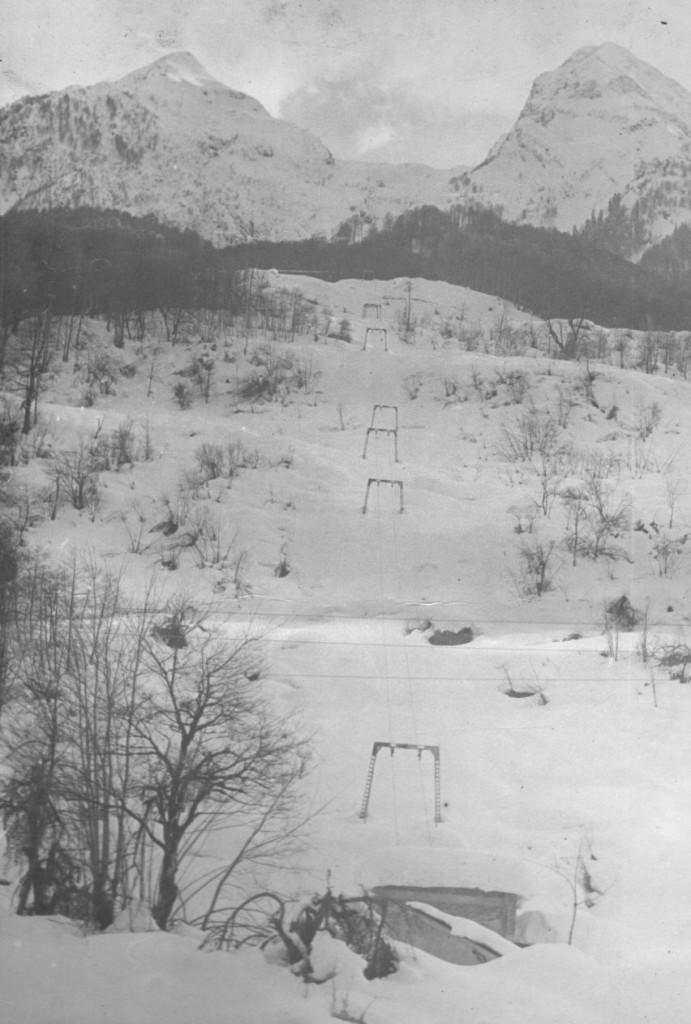 "Зима, 1976 г. Подъемник ""Швабра"""