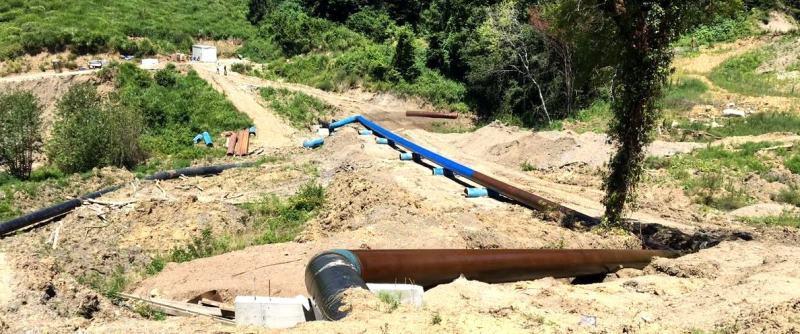 Переложенный участок водовода 800 мм