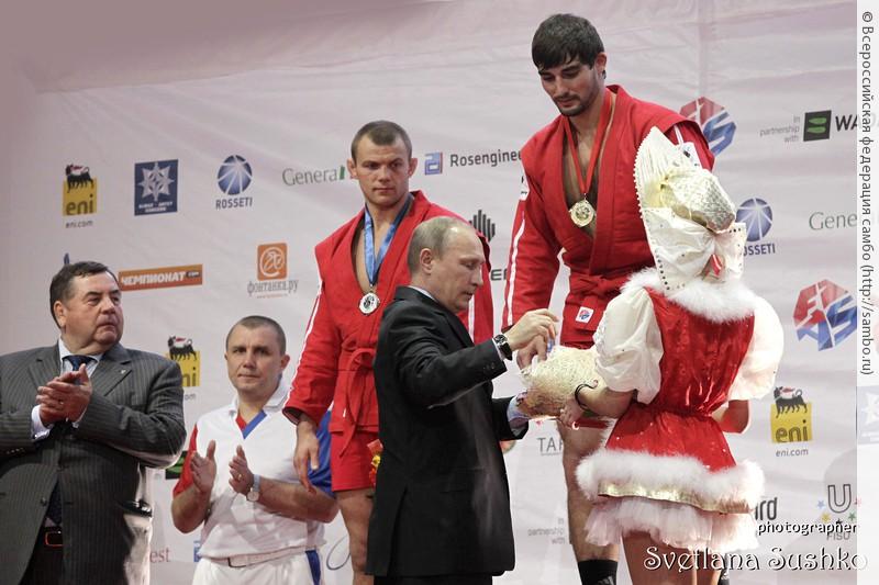 Арсена Ханджяна награждает В.В. Путин