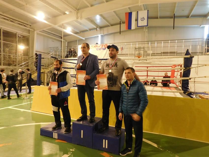 Награждение Виталием Верхотуровым руководителей команд Краснодара, Новороссийска и Сочи