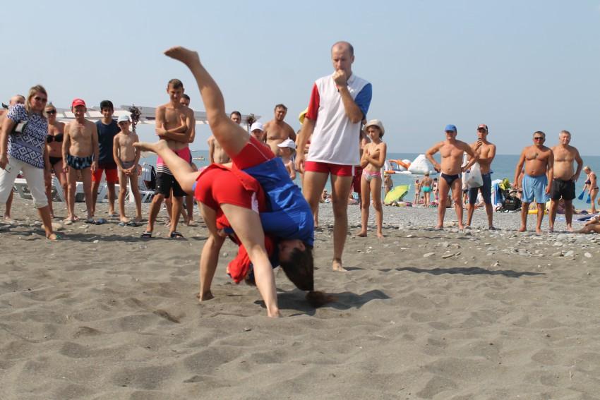 Международный турнир по пляжному самбо в Сочи