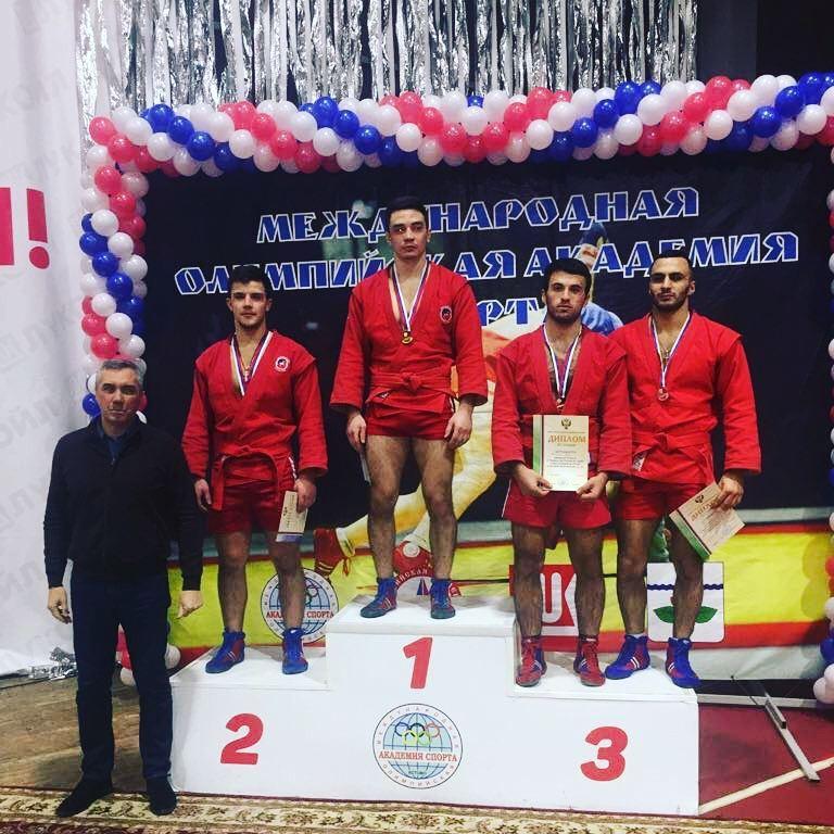 Первенство России по самбо 2018 Завен Келешьян бронзовая медаль