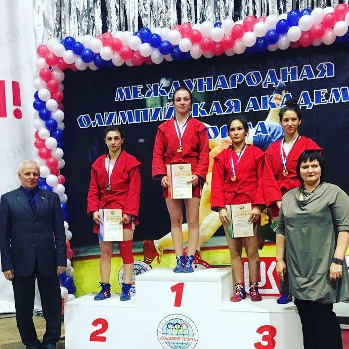Серебро Первенства России по самбо среди молодежи 2018 - Кристина Карекян