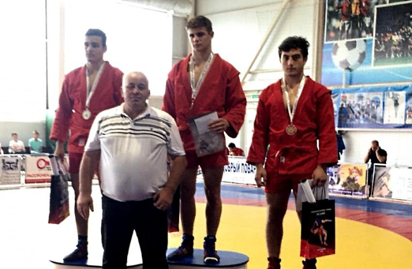 Леван Манукян - 3 место турнира по самбо в Курганинске