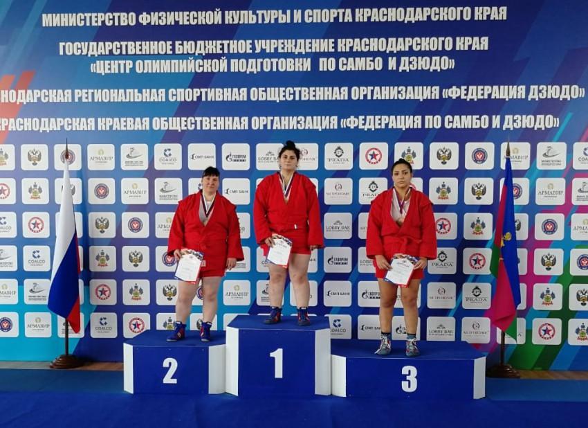 Чемпионат ЮФО по самбо 2018 года - Поликашина Екатерина 2 место
