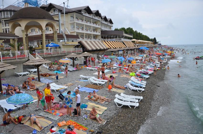 пляжи сочи фото лазаревское