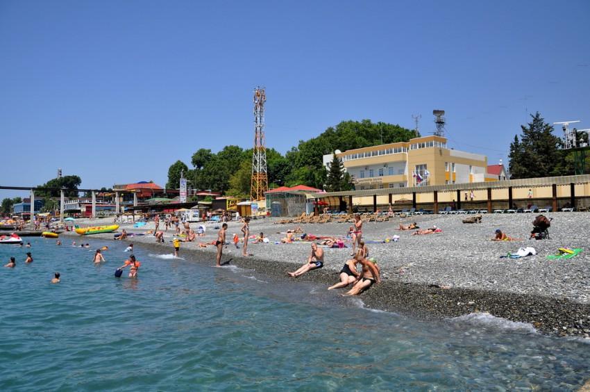 Пляжи Адлера и Курортного городка 96
