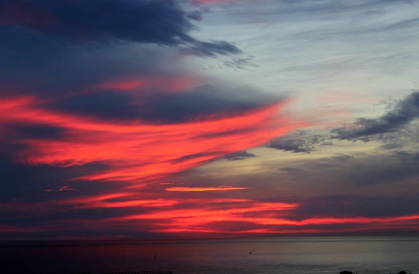 Розовый закат 23.10.14 Сочи