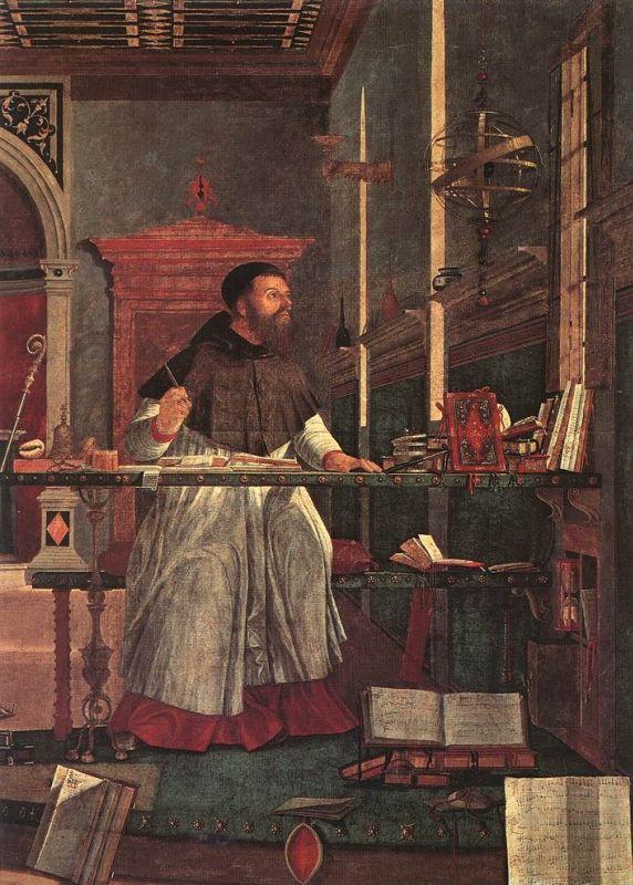 Картина называется Видение святого Августина, холст, масло