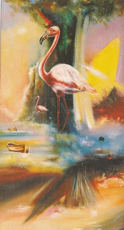 мировое дерево и фламинго