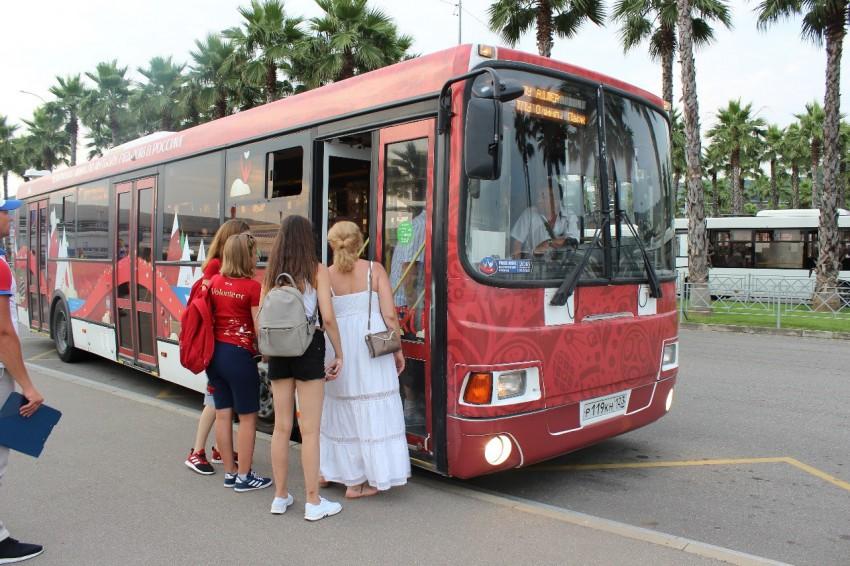 b56cafefb29a В Сочи в дни матча на маршрутах спортивных соревнований задействовано 255  автобусов из них 121 на городских маршрутах МУП г.