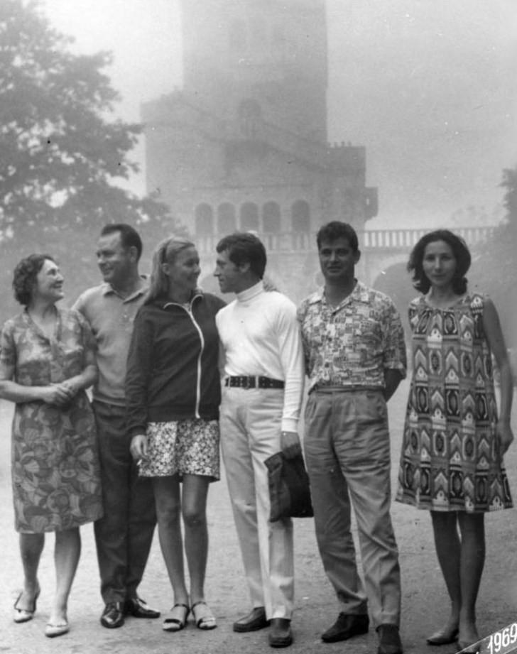 Владимир Высоцкий и Марина Влади в Сочи. Гора Ахун. 1969 г.