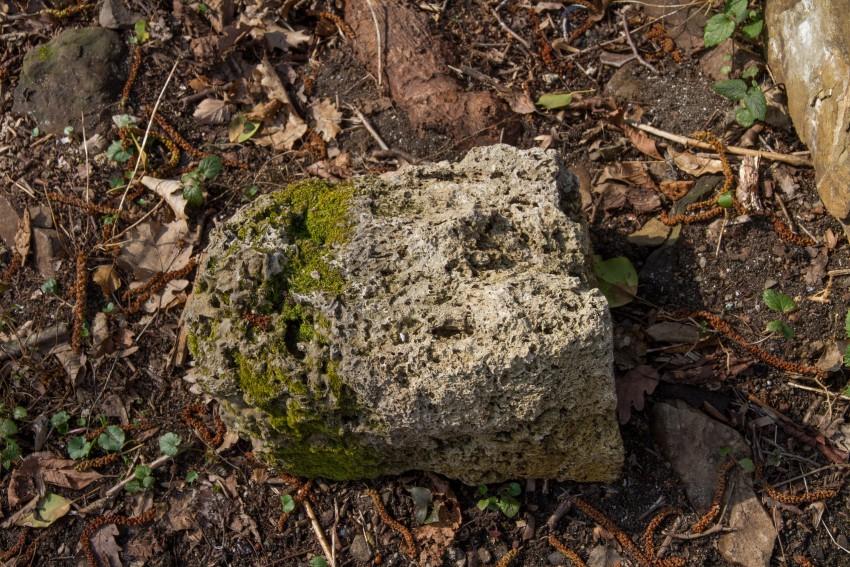 Каменный блок из пористой породы