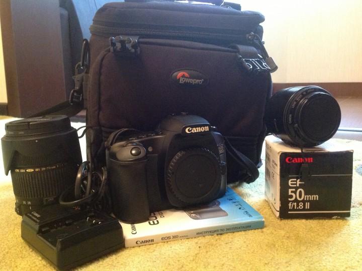 Canon EOS 30D + 2 объектива + сумка