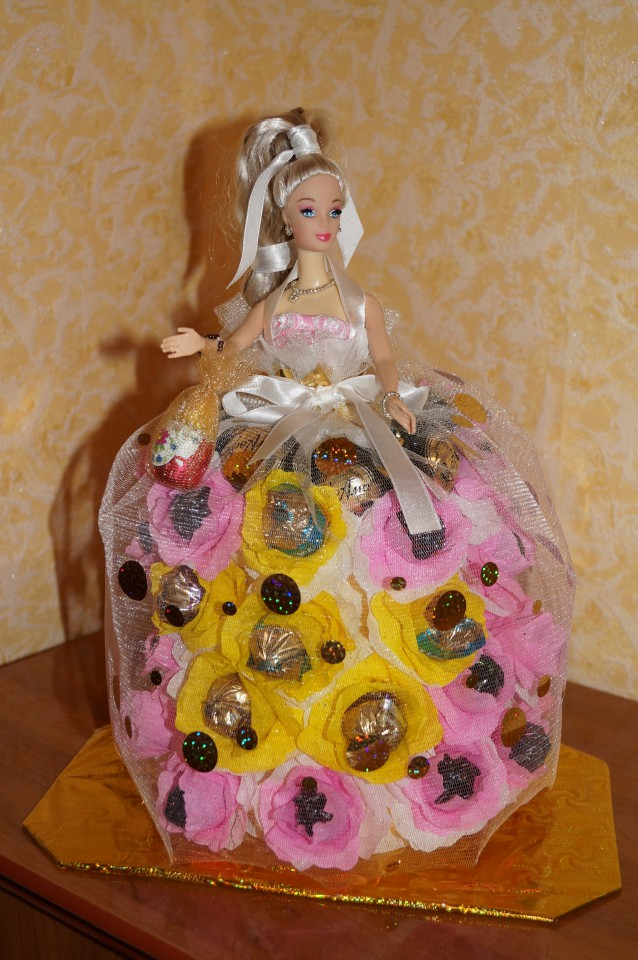 Торт из конфет своими руками пошаговое для девочек