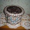 Шкатулка плетеная ручной работы