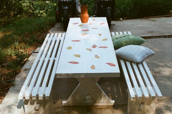 Столы и лавки для кафе и дачи