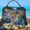 Ручная роспись кожаных сумок и аксессуаров