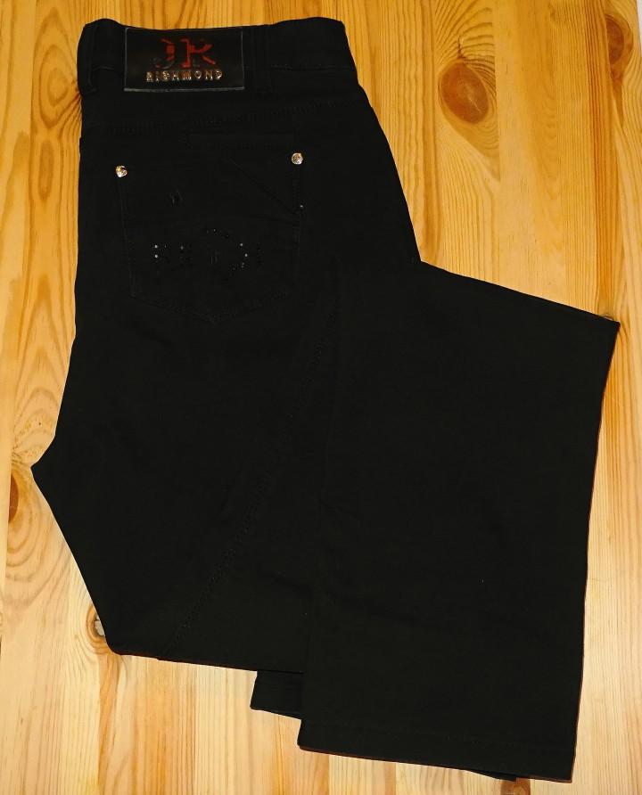 брюки стрейч черные