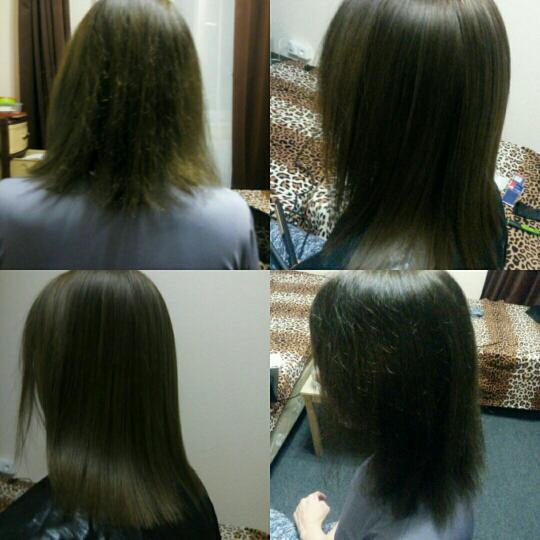 Кератирование волос и кератиновое восстановление волос