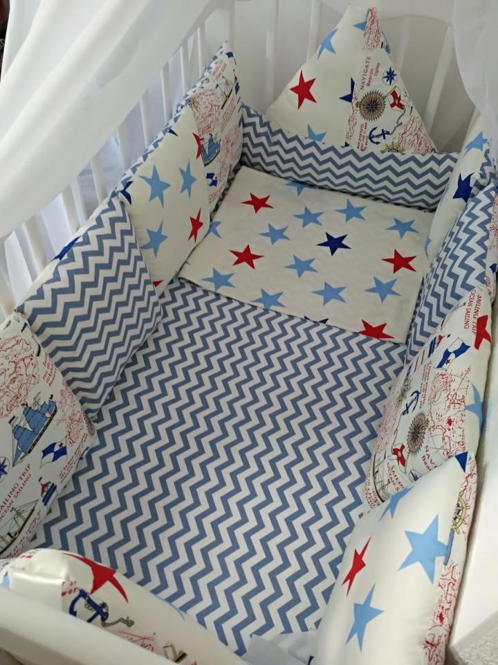 Бортики в кроватку, гнездышки для сна, конверты на выписку и пр.
