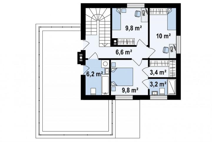 Дом 2 этажа 136 м2 за 3 месяца