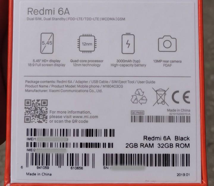 Xiaomi Redmi 6a 2 / 32 gb