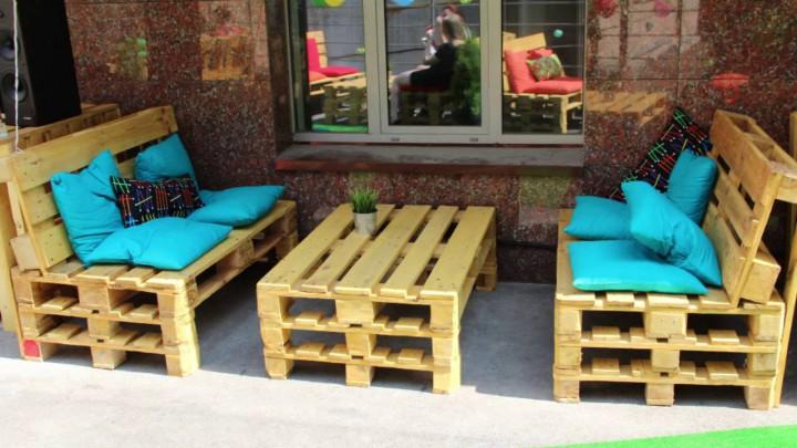 Мебель с палета (поддонов), дачная мебель в стиле Loft*