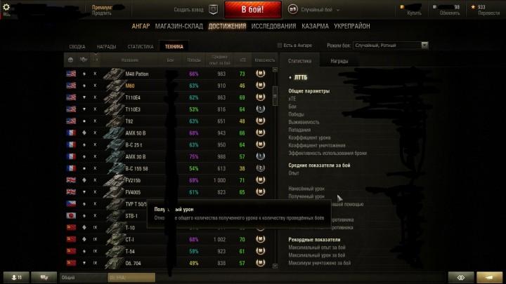 Продам акк в танках (world of tanks) 59%побед,2300WN8,30 топов,и